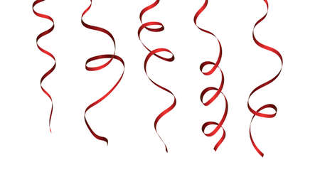 Bright red serpentine isolated on a white background. Decorations for any holiday.