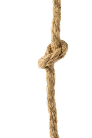 Large twisted rope isolated on a white background. Material for binding various products.