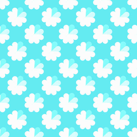 Seamless pattern of hearts and flowers on a blue background. Stylish background.