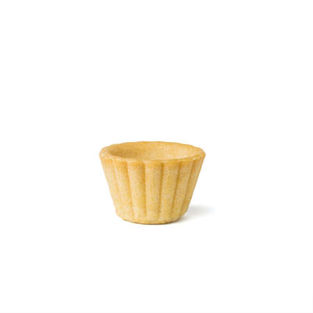 A small baked salad tartlet isolated on a white background. Baked goods for snacks. Stock fotó