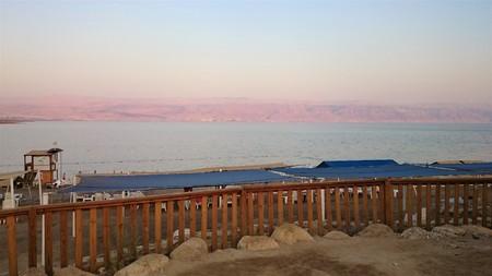 Dead sea salty shore. Wild nature. Tropical landscape. Summertime