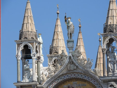 San Marco square with Campanile and San Marcos Basilica. The main square of the old town. Venice, Veneto Italy.