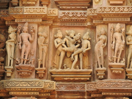 The Western group of Khajuraho temples.