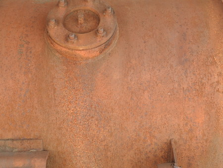 Details of old rusty locomotives close-up, texture