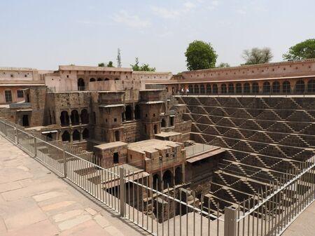 Chand Baori well, stepwell in Abhaneri Village near Jaipur, Rajasthan. Chand Baori was built by king Chanda of the nikumbh Dynasty.