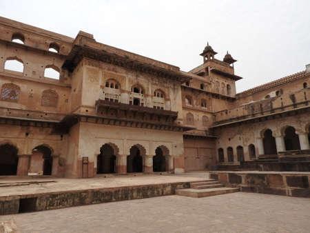 The Jehangir Mahal, Orchha Fort, Religia Hinduism, ancient architecture, Orchha, Madhya Pradesh India
