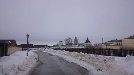 View of the city-island Sviyazhsk in the winter
