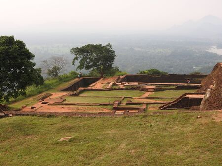 Ruins of the Royal Palace on top of lion rock, Sigiriya, Sri Lanka