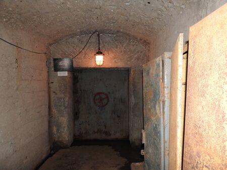 Underground Soviet bunker in its original form, Moscow, Russia. Banco de Imagens