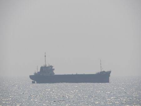 Ship Entering Galle Harbour in Sri Lanka.