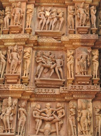 The frescoes are inside the temples of the Western group including Visvanatha-Khajuraho, Madhya Pradesh, India