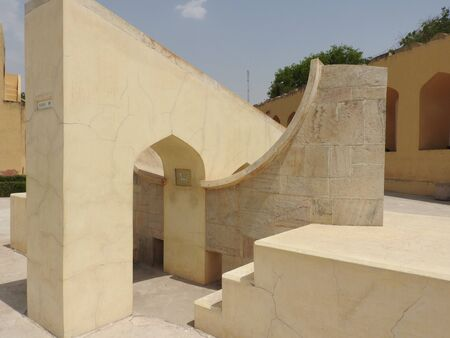 Stairs leading to the top of Samrat Yantra, Largest sundial in the world at the Jantar Mantar, Delhi