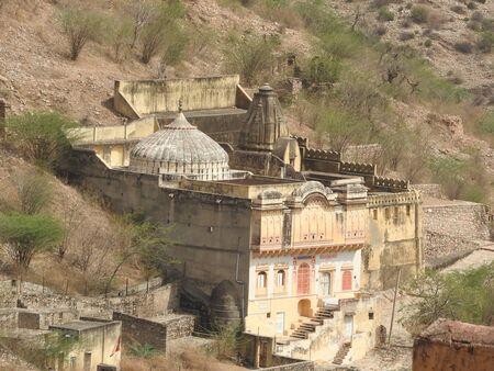 Beautifoul Amber Fort near Jaipur city in India. Rajasthan. 免版税图像