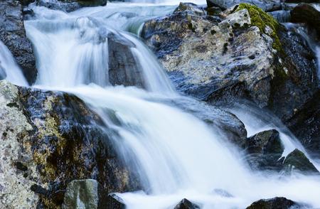 waterfall river: Mountain river Stock Photo