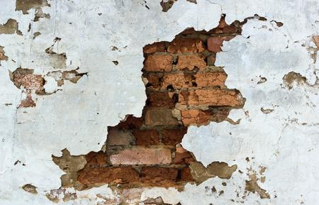 backstop: Old brick wall.