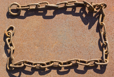 catena: Metal background and chain.