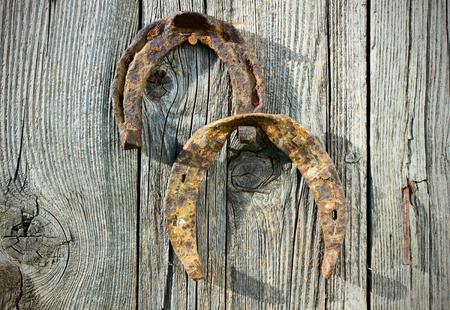 unfit: Horseshoes. Stock Photo