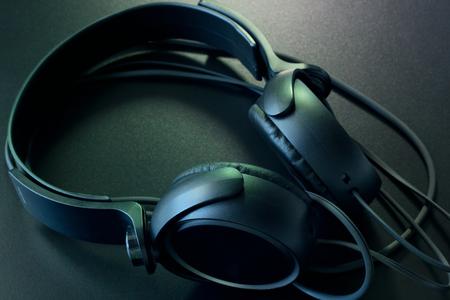 estereo: auriculares est�reo. Foto de archivo