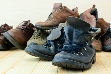 Old worn shoes.