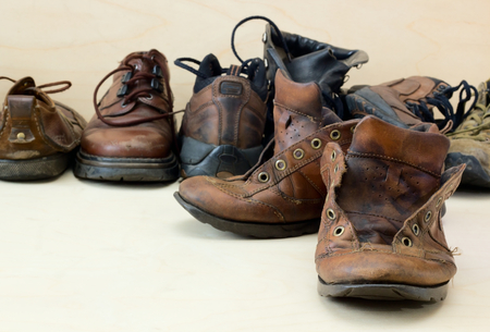 utilized: Old worn shoes.