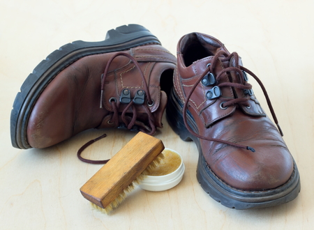 old shoes: Old shoes. Stock Photo