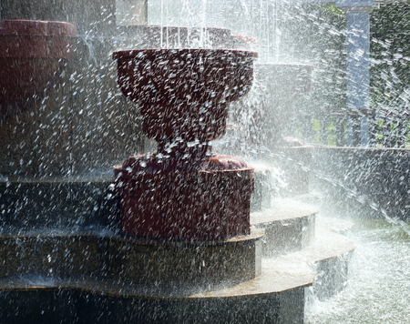 spurt: Fountain in the park.Fragment.