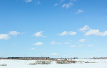 weald: Winter landscape. Stock Photo