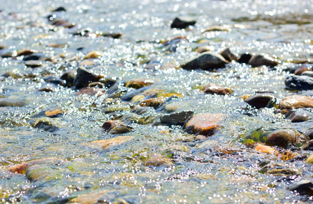 purl: Small rift on the river. Stock Photo
