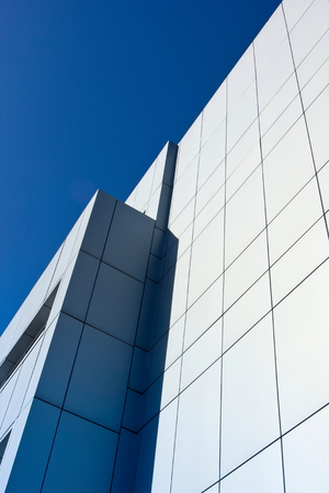 Fragments of modern urban architecture.Tinted image. Stock Photo