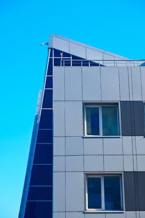 Fragments of modern urban architecture.
