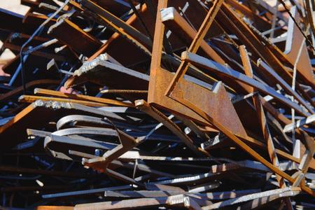 Metal scrap. Production waste. Reklamní fotografie