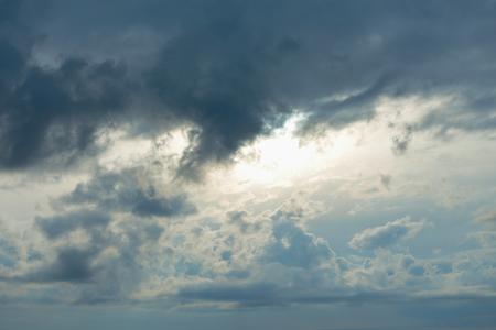 atmospheric pressure: Gloomy overcast sky. Stock Photo