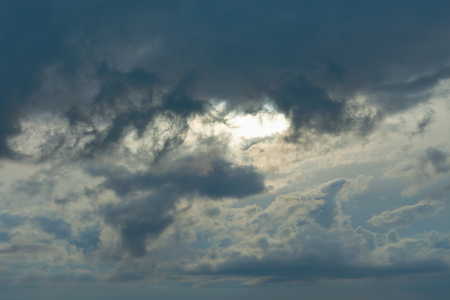 Gloomy overcast sky. Stock Photo