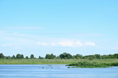 River landscape.Summer day.