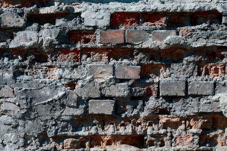 Texture of an old brick wall background.