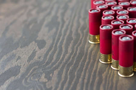 Several shotgun shells standing up (right oriented)