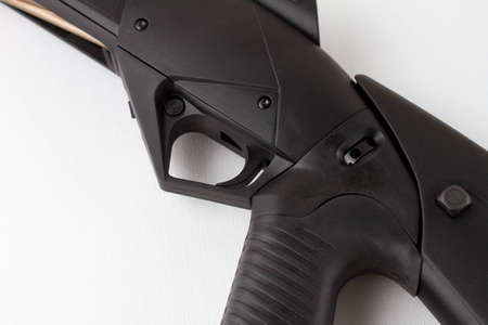 trigger: Close-up of shotgun trigger