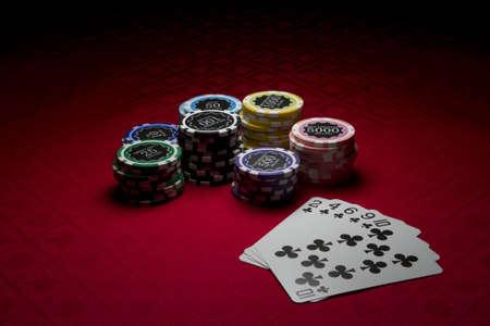 Poker chips and a flush Reklamní fotografie