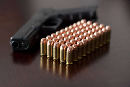 Glock 22 with 40 cal. Ammunition photo