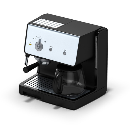 great coffee: Isolated coffe maker on a white background. 3D illustration. Stock Photo