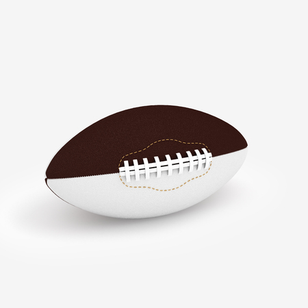 pelota rugby: 3D Illustration of a Rugby Ball