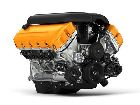 fuel rod: Automotive engine. 3D illustration.