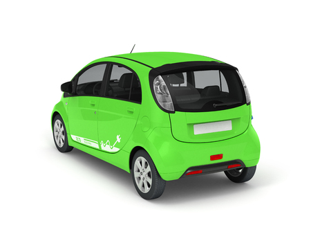 Electric Car isolated on white. 3D illustration.
