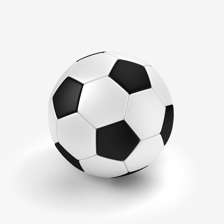 footie: football ball, isolated on white.3D illustration.