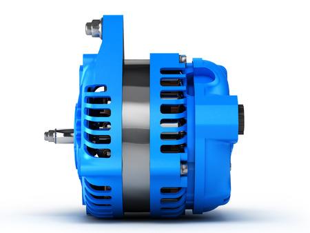 alternator: Car alternator isolated on a white background.3D illustration.