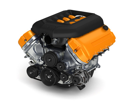 Automotive engine.3D illustration.