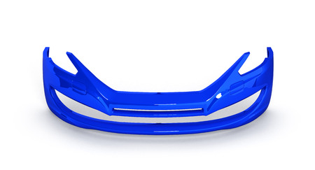 fender: front bumper of the car on a white background 3d
