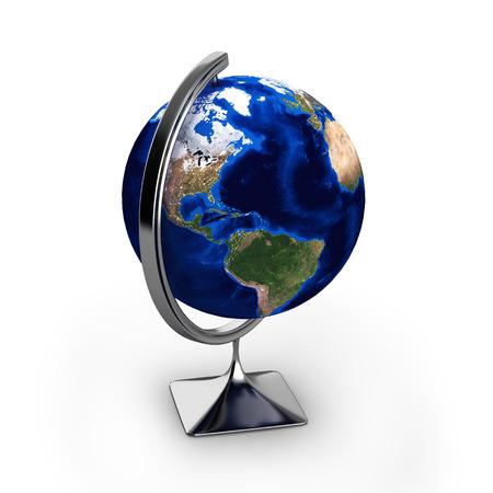 globe isolated on white background 3d Stock Photo
