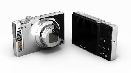 digital photo: digital photo camera isolated on white background 3d