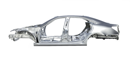 body car without a shadow on white background 3d